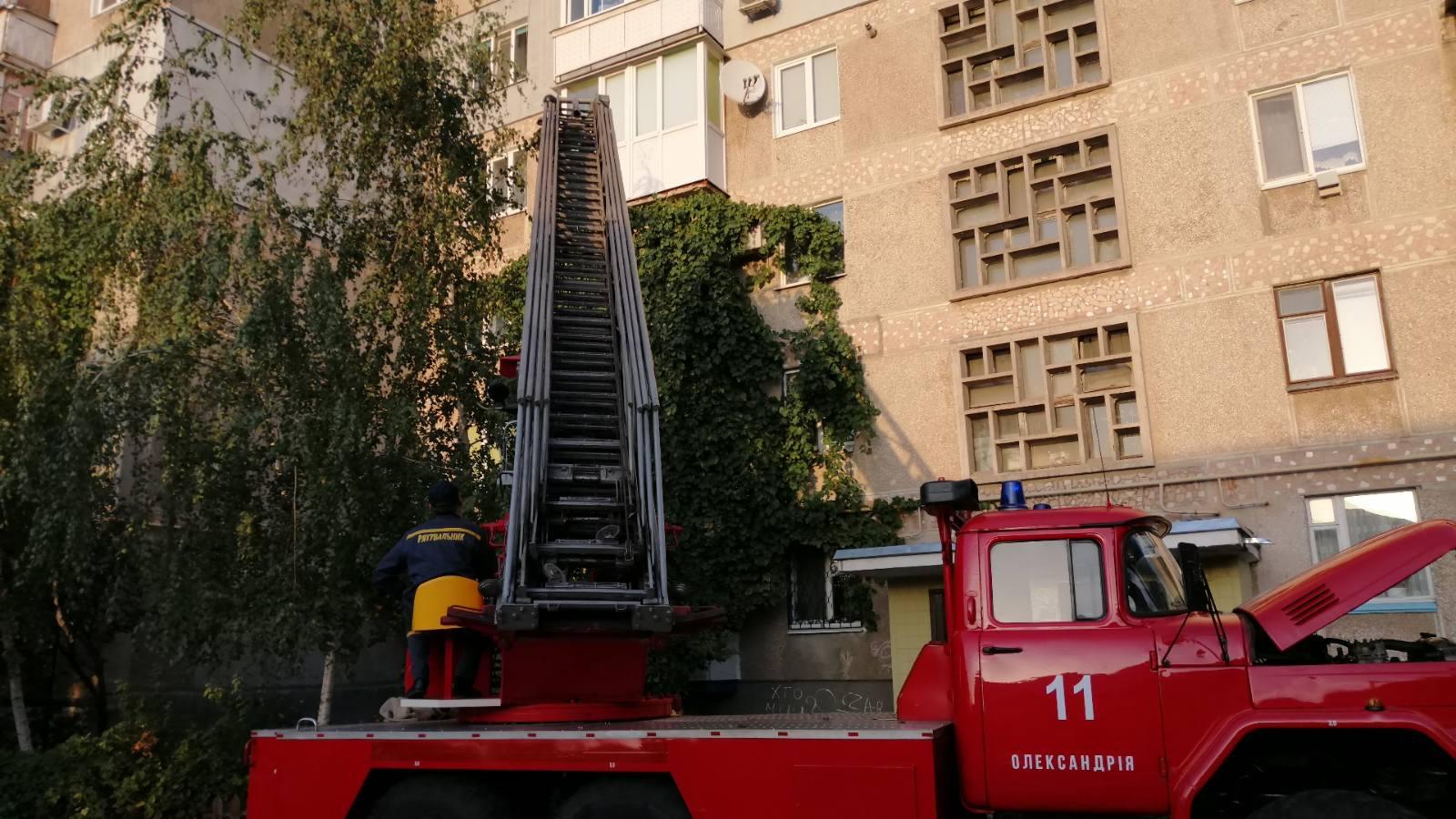 В Олександрії поліцейські та співробітники ДСНС рятували дитину. ФОТО/ВІДЕО