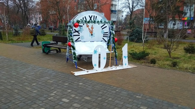 В Олександрії знову зламали новорічну інсталяцію