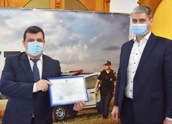 Поліцейські відзначили голів Новопразької та Попельнастівської ОТГ