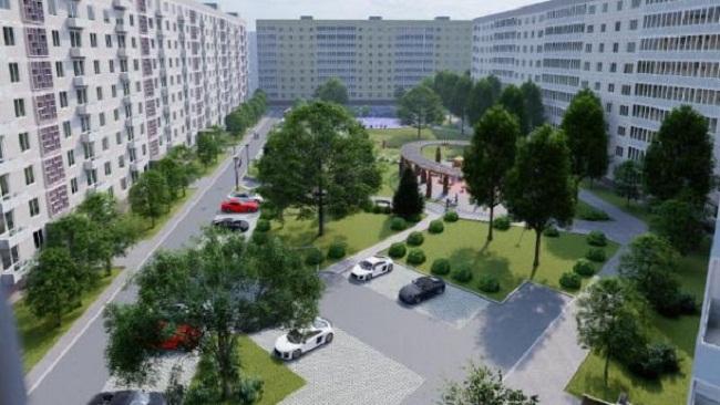 Мер Олександрії показав ескіз нового двору по проспекту Соборному