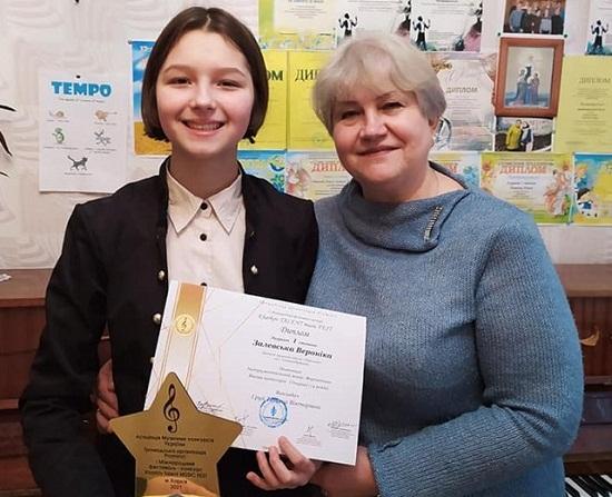 Учениця музичнoї шкoли «Пеpлинa» перемогла у міжнародному конкурсі