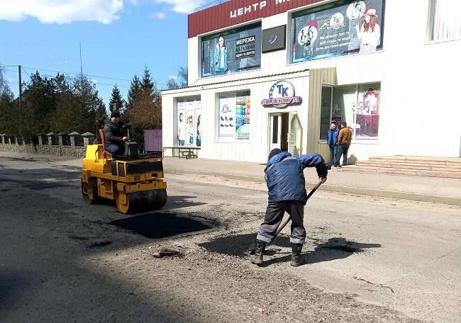 Поточний ремонт вулиці Гагаріна в Олександрії