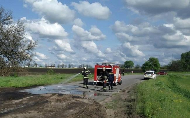 Олександрійські рятувальники ліквідували наслідки  ДТП