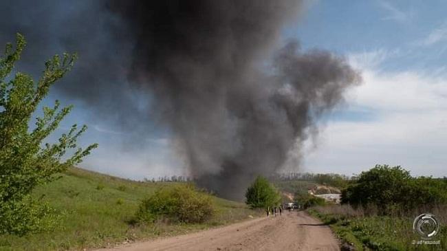 Під Олександрією знову горить сміттєзвалище