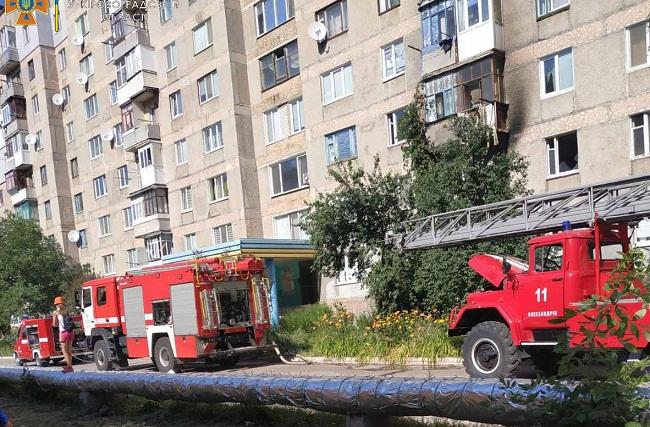 В Олександрії по вулиці Садовій горіла квартира