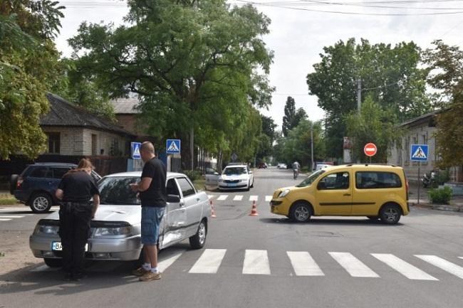 В Олександрії на перехресті сталася ДТП