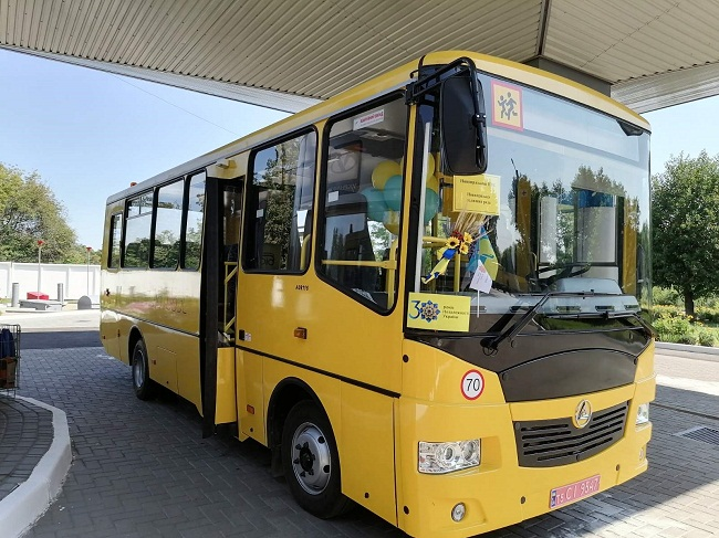 Новопразькій громаді вручили шкільний автобус