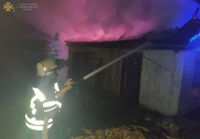 На Олександрійщині за добу сталось дві пожежі