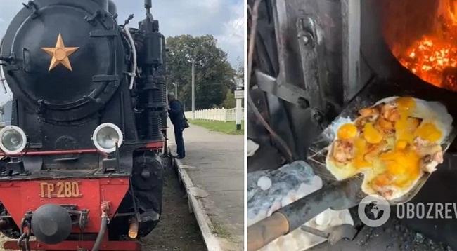 На Кіровоградщині машиністи приготували яєчню на лопаті просто в топці локомотива