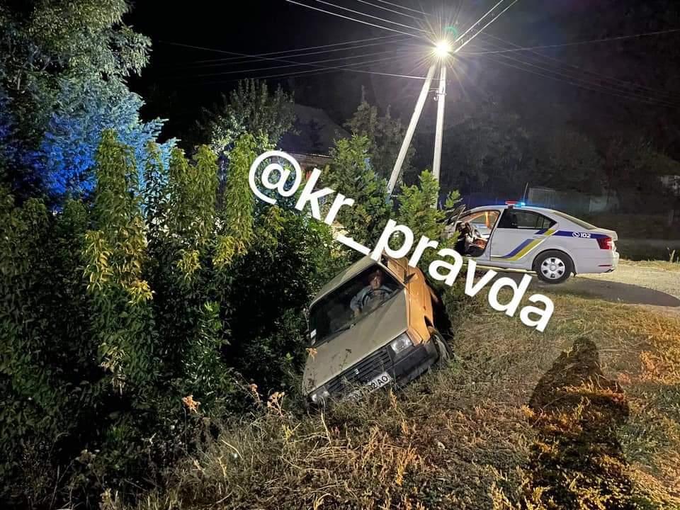 На Олександрійщині нетверезий водій злетів у кювет