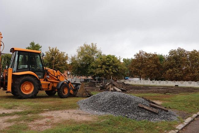 В Олександрії розпочали будівництво спортивного майданчика