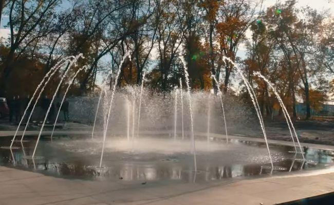 Фонтан у парку Шевченка в Олександрії працюватиме в тестовому режимі